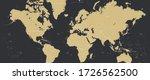 detailed world map in retro... | Shutterstock .eps vector #1726562500