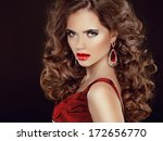 red sexy lips. stare. beauty... | Shutterstock . vector #172656770
