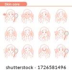 skin care icons set.  ute... | Shutterstock .eps vector #1726581496