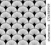 art deco pattern. vector black... | Shutterstock .eps vector #1726585939