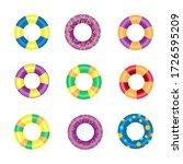 Colorful Rubber Swim Rings Set...