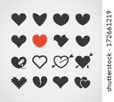 Different Abstract Heart Icons...