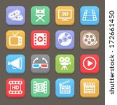 cinema and movie icons for web... | Shutterstock .eps vector #172661450