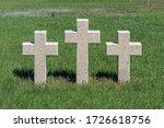 Three Catholic Stone Crosses O...