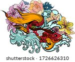 colorful siamese fighting fish... | Shutterstock .eps vector #1726626310