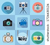 flat icons for camera and... | Shutterstock .eps vector #1726630126