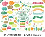 colorful watercolor collection... | Shutterstock .eps vector #1726646119