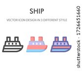 ship icon pack isolated on...
