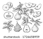 vector sketch pear decorative... | Shutterstock .eps vector #1726658959