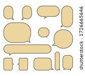 set colorful speech bubbles on... | Shutterstock .eps vector #1726665646
