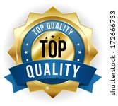 gold blue top quality badge...   Shutterstock .eps vector #172666733