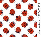 Seamless Pattern With Ladybugs. ...
