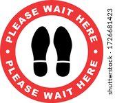 Please Wait Here Sign....