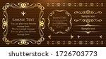 beautiful vintage frame... | Shutterstock .eps vector #1726703773