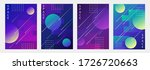 set of abstract space templates ... | Shutterstock .eps vector #1726720663