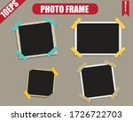 set of vintage photo frame with ... | Shutterstock .eps vector #1726722703