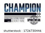 champion stylish typography... | Shutterstock .eps vector #1726730446