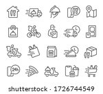 food delivery icons set.... | Shutterstock .eps vector #1726744549