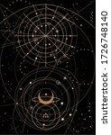 zodiac circles on the black... | Shutterstock .eps vector #1726748140