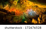 Colored Lights Cave Florida Caverns - Fine Art prints