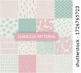 set of vector seamless spring... | Shutterstock .eps vector #1726765723