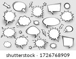 collection of empty comic... | Shutterstock .eps vector #1726768909
