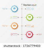 timeline infographics design... | Shutterstock .eps vector #1726779403