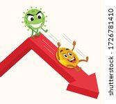 coronavirus pushing down... | Shutterstock .eps vector #1726781410