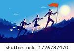leadership   three... | Shutterstock .eps vector #1726787470