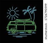 adventure van line art vector...   Shutterstock .eps vector #1726790599
