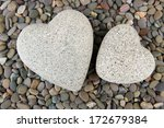 Two Hearts On Small Sea Stones...