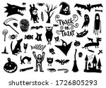 variety of halloween elements...   Shutterstock .eps vector #1726805293
