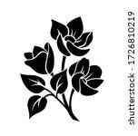 vector black silhouette of... | Shutterstock .eps vector #1726810219