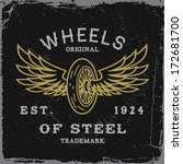 vintage label with wheel and... | Shutterstock .eps vector #172681700