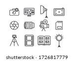 photographer icon set.... | Shutterstock .eps vector #1726817779
