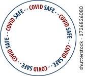 covid safe vector illustration... | Shutterstock .eps vector #1726826080