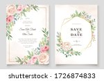 beautiful wedding invitation... | Shutterstock .eps vector #1726874833