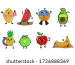 fruit cute cartoon characters... | Shutterstock .eps vector #1726888369