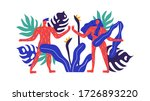 man and woman couple with... | Shutterstock .eps vector #1726893220