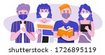 group of people wearing medical ...   Shutterstock .eps vector #1726895119