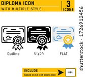 diploma premium icon with...