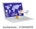 online education  a student... | Shutterstock .eps vector #1726946959