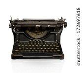 black retro typewriter | Shutterstock . vector #172697618