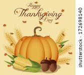 vector thanksgiving day related ... | Shutterstock .eps vector #172698140