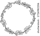 floral circle vector wreath.... | Shutterstock .eps vector #1726982206