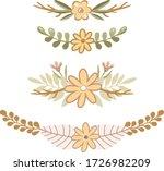 floral vector wreath. flowers... | Shutterstock .eps vector #1726982209