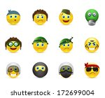 collection of icons smileys on... | Shutterstock . vector #172699004