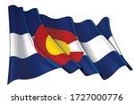 vector illustration of a waving ...   Shutterstock .eps vector #1727000776