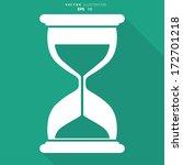 sand clock icon. glass timer... | Shutterstock .eps vector #172701218