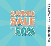 summer sale pop style art... | Shutterstock .eps vector #1727029516